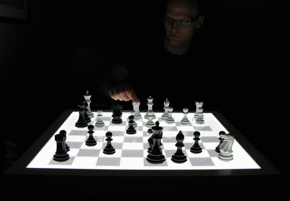 Dark Chess: Illuminated Chess Board GIFs