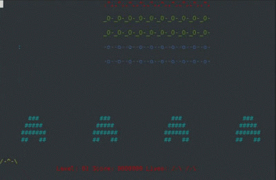 Game Terminal Linux Ninvaders GIFs