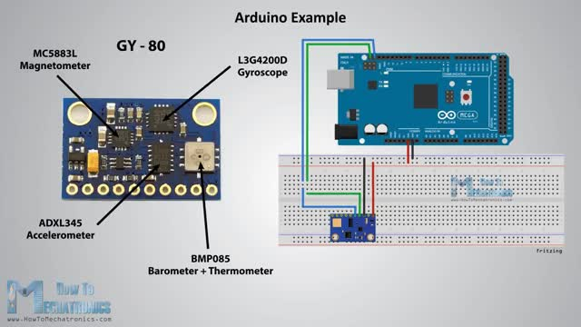 Watch and share How MEMS Accelerometer Gyroscope Magnetometer Work & Arduino Tutorial GIFs on Gfycat