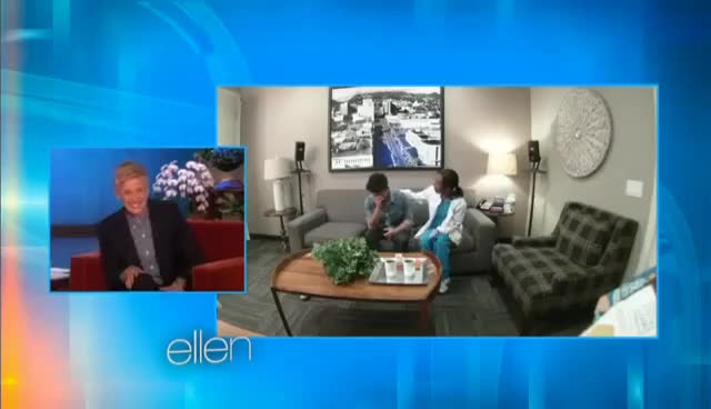Watch Ellen's in Bruno Mars' Ear GIF on Gfycat. Discover more related GIFs on Gfycat