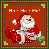 Watch and share Santa Claus Ho Ho Ho Stamp GIFs on Gfycat
