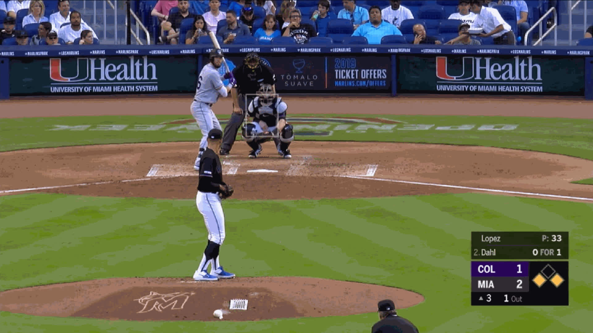 Colorado Rockies, Miami Marlins, baseball, Pablo Lopez-CH-85whiffdown GIFs