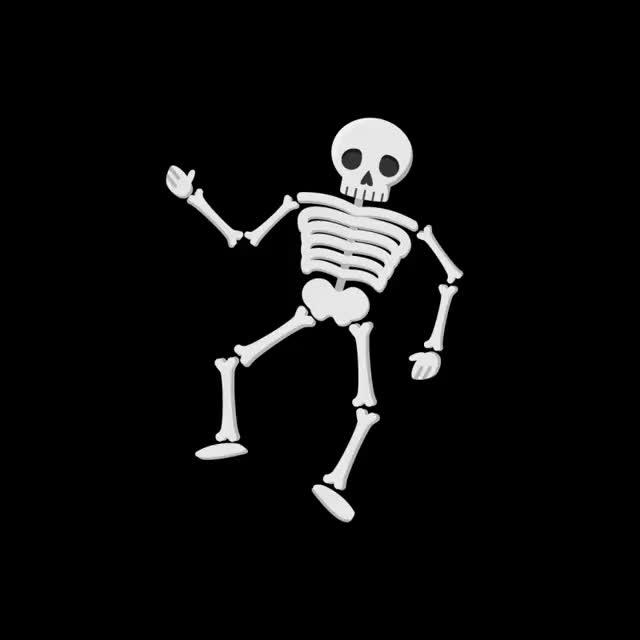 какой гифка скелет ползет по тротуару этим