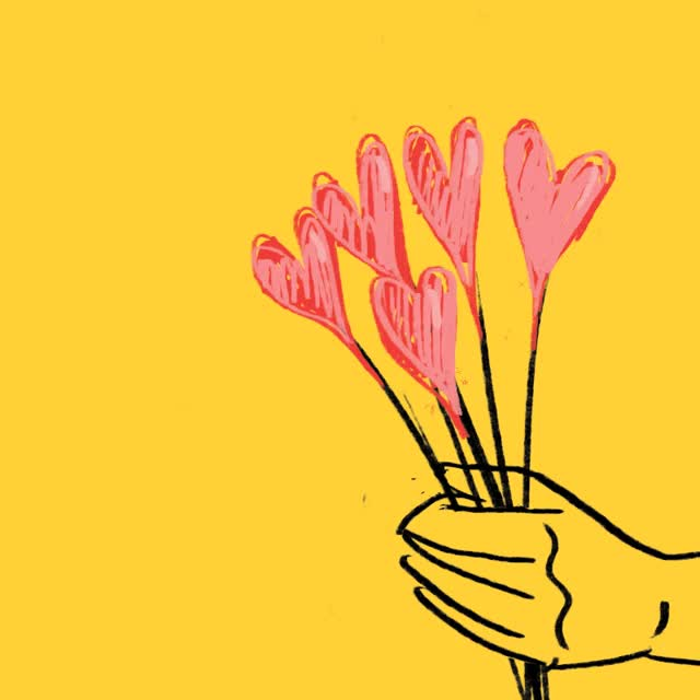 Watch this flowers GIF by The GIF Smith (@sannahparker) on Gfycat. Discover more animation, bouquet, denyse, flowers, heartbreak, hearts, i love you, love, rejected GIFs on Gfycat