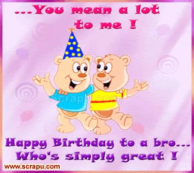 Watch and share Happy Birthday Brother Gif GIFs on Gfycat