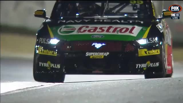 Watch and share Mostert Mustang Mounting The Kerb GIFs by GORESSEN on Gfycat