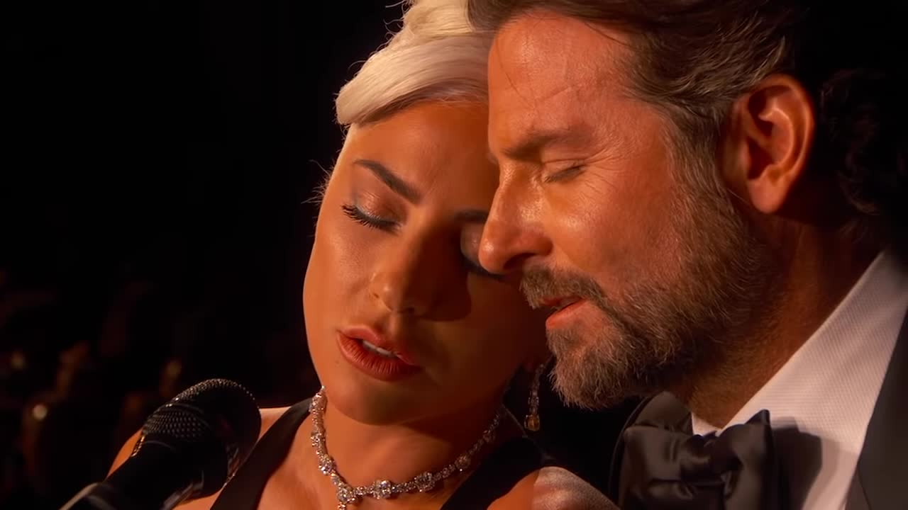 a star is born, academy awards, bradley cooper, flirt, lady gaga, ladygagavevo, love, music, oscars, oscars 2019, shallow, soundtrack, Lady Gaga, Bradley Cooper - Shallow (From A Star Is Born/Live From The Oscars) GIFs