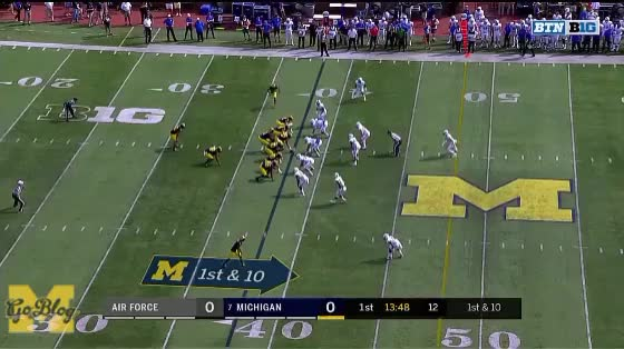 Watch Isaac Near-Touchdown GIF by MGoBlog (@mgoblog) on Gfycat. Discover more 2017, Air Force, Football, Khalid Hill, Mason Cole, Michigan, Ty Isaac GIFs on Gfycat