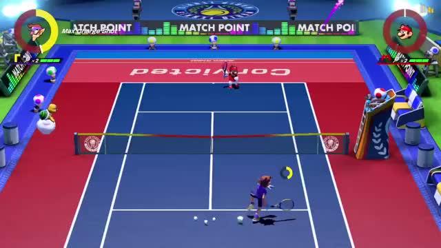 Watch I broke it. GIF on Gfycat. Discover more Bug, Funny, Glitch, Mario Tennis, Mario Tennis Aces GIFs on Gfycat