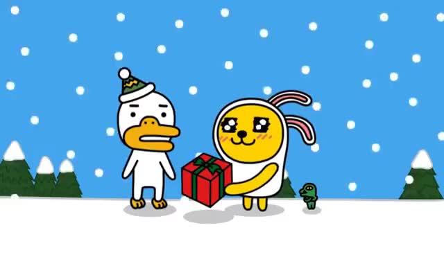 Watch and share 카카오프렌즈의 크리스마스 GIFs on Gfycat