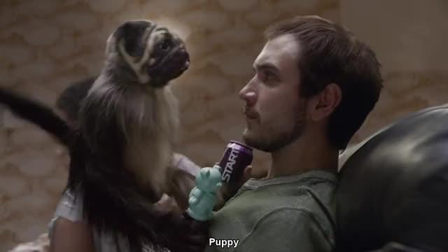 Mtn Dew Kickstart: Puppymonkeybaby | Super Bowl Spot
