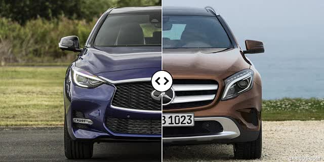 Watch and share Infiniti QX30 Vs. Mercedes-Benz GLA : Front [GIF Animation] GIFs on Gfycat
