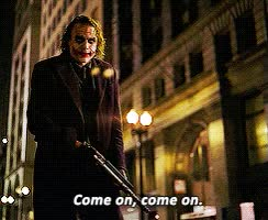 Watch and share Heath Ledger GIFs and The Joker GIFs on Gfycat