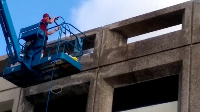 Power Washing Commercial Building GIF | Find, Make & Share Gfycat GIFs
