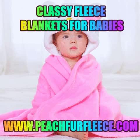 Watch and share Classy Fleece Blankets For Babies GIFs by fleecepeachfur on Gfycat