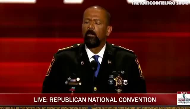 Watch Sheriff David A Clarke... Blue Lives Matter!!! GIF on Gfycat. Discover more related GIFs on Gfycat