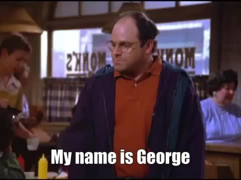 george costanza, jason alexander, seinfeld, George Costanza Opposite Seinfeld GIFs