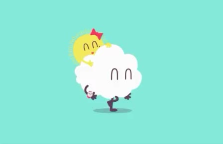 cloud, clouds, friends, go, love, nature, run, sun, sunny, together, walk, walking, Sunny walk GIFs