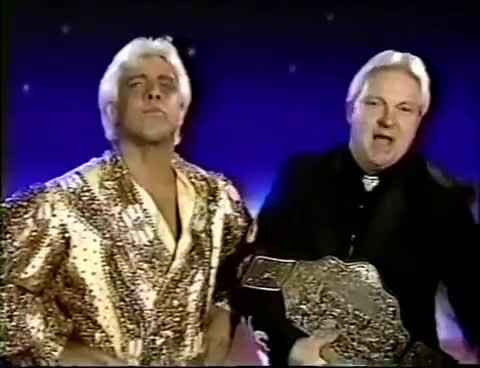 Watch and share Ric Flair And Bobby Heenan Promo On Roddy Piper (10-06-1991) GIFs on Gfycat