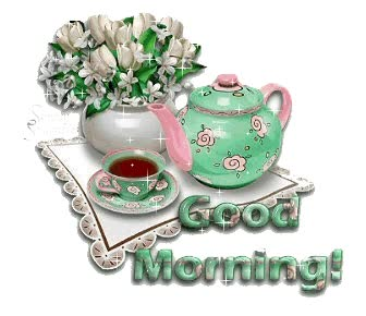 Watch and share Good Morning Tea With Flower Vase animated stickers on Gfycat