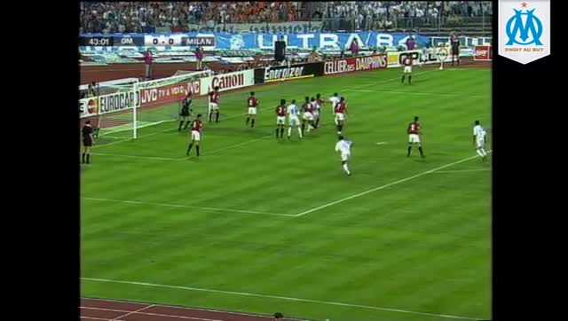 Watch and share OM 1-0 MILAN AC (1993) : Le But De Basile Boli GIFs on Gfycat