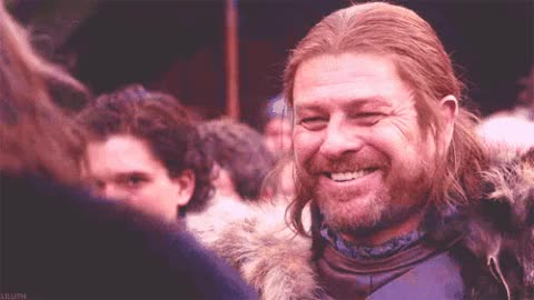 Watch this eddard stark GIF on Gfycat. Discover more eddard stark, game of thrones, ned stark, sean bean, smile GIFs on Gfycat