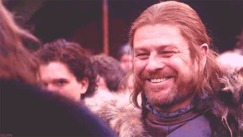 eddard stark, game of thrones, ned stark, sean bean, smile, slightly askew GIFs