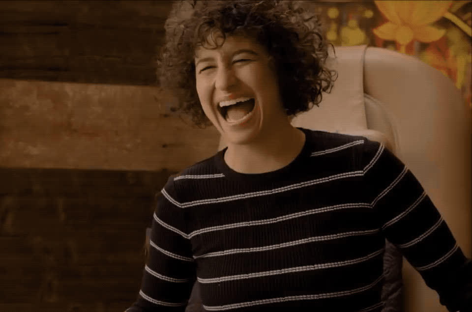 Ilana Glazer, funny, laughing, lol, Broad City - Ilana LOL GIFs