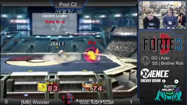 Forte 3-SS | Brother Rob (Falcon) vs Captain Birdman (Dedede) Pools