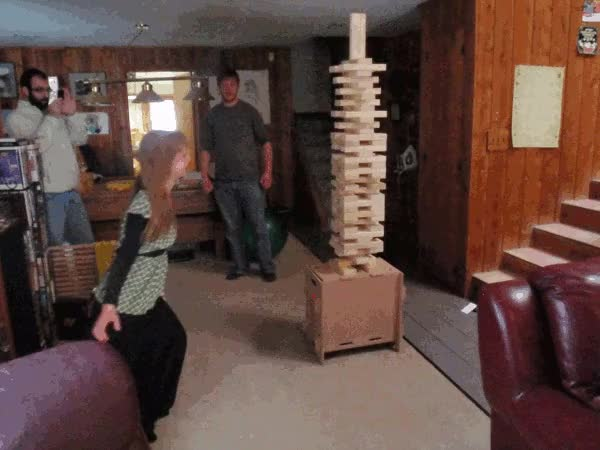 Watch jenga knockdown GIF on Gfycat. Discover more related GIFs on Gfycat