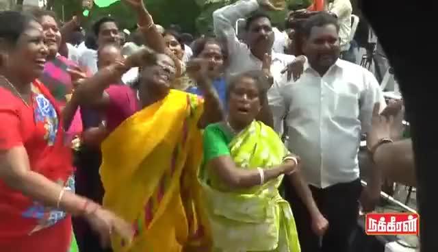 Watch and share ADMK Supporters Winning  Celebration   Sema Kuthu Dance GIFs on Gfycat