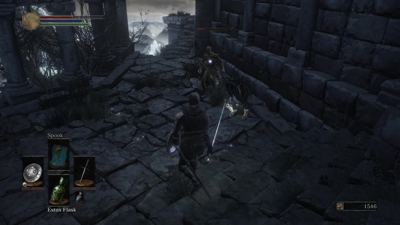 darksouls3, Or, if you parry him, then think he's dead and start celebrating, but he really survived with a sliver of health. (reddit) GIFs