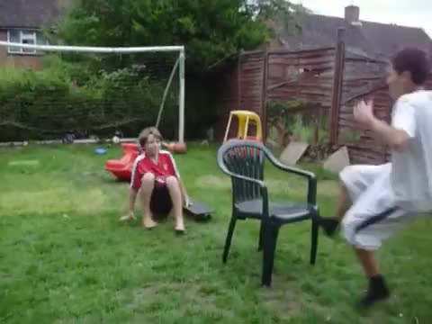 Watch Fuck you, and this chair! (reddit) GIF on Gfycat. Discover more childrenfallingover GIFs on Gfycat