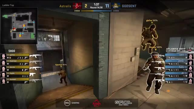 ELEAGUE Major Day One - Live - Astralis vs. Godsent