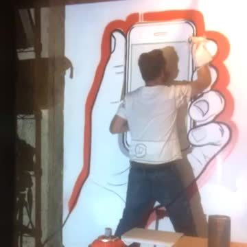 graffiti, marker, paint, iPhone outlining GIFs