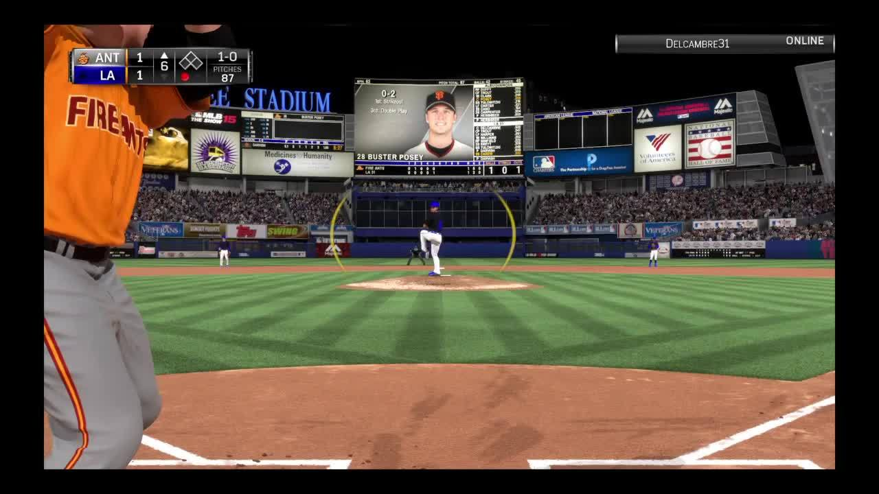 diamonddynasty, mlbtheshow, Successful Dive Tag due to unaware baserunning GIFs