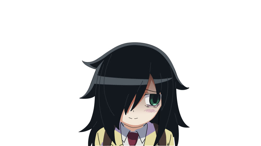 Anime, FirstGif, HandDrawn, MyFatherAbusesMe, Tomoko, Watamote, Tomoko GIFs