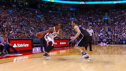 Watch and share DeMar DeRozan — Toronto Raptors GIFs by Off-Hand on Gfycat