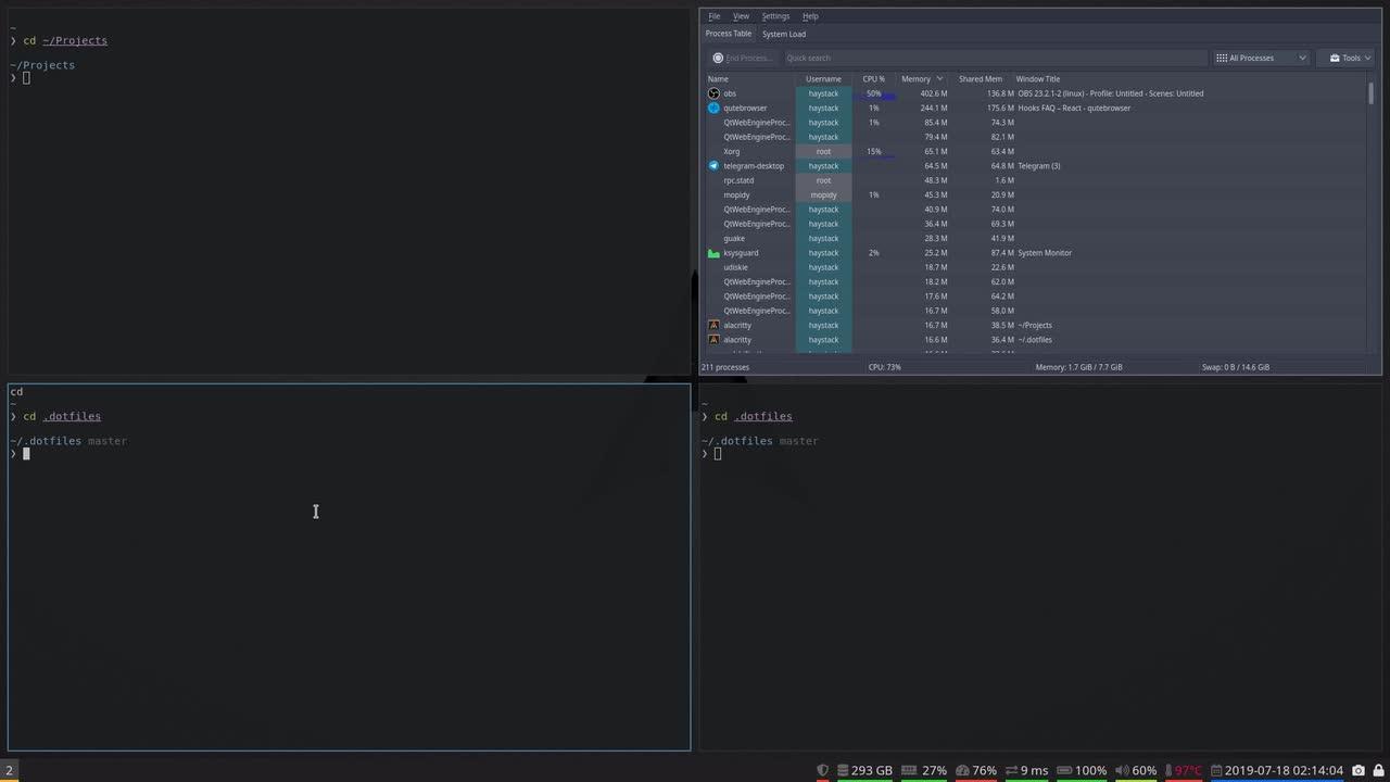 Manjaro I3 Lock Screen