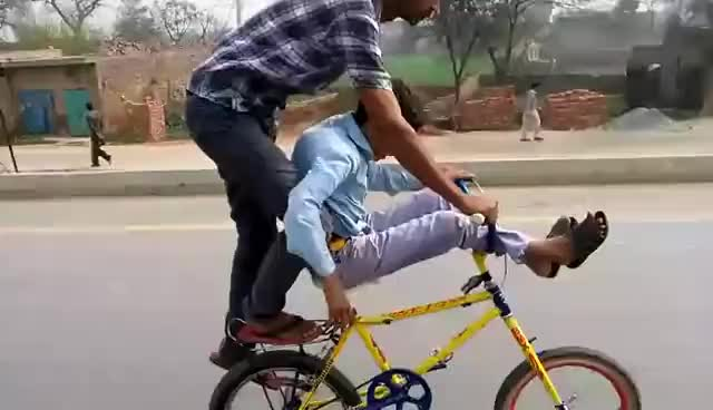 Watch and share Cycle Wheeling  In Pakistan (kasur) GIFs on Gfycat