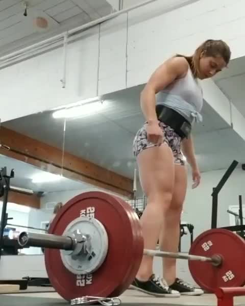 fit, fitness, workout, Powerlifter Jessica Buettner GIFs