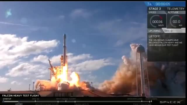 Watch SpaceX launch Falcon Heavy: watch live GIF on Gfycat. Discover more 2018, Live, NASA, Rocket, space, tesla GIFs on Gfycat