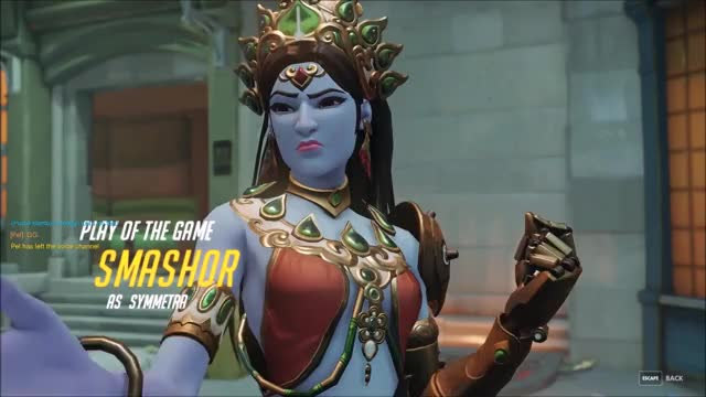 Watch and share Overwatch GIFs and Symmetra GIFs by smash0r on Gfycat