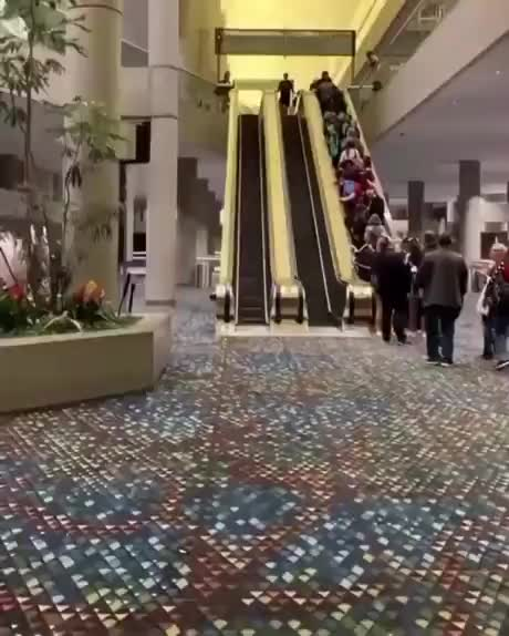 Coming down in style - gif