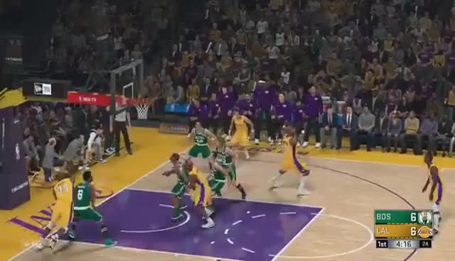 Watch and share NBA 2k18 - All Time Lakers Team Vs All Time Celtics Team | PS4 Pro (1080p 60fps) GIFs on Gfycat