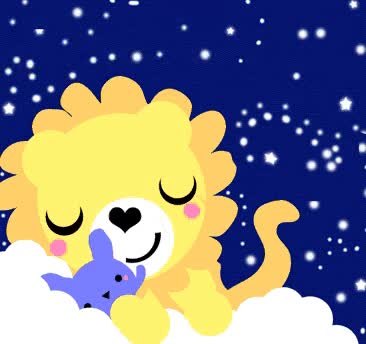 Watch this lion GIF by GIF Queen (@ioanna) on Gfycat. Discover more animals, cub, cute, dreams, good, goodnight, lion, lioness, night, rabbit, stars, sweet GIFs on Gfycat