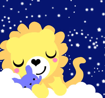 cute, dreams, good, goodnight, lion, night, rabbit, stars, sweet, Sweet dreams GIFs