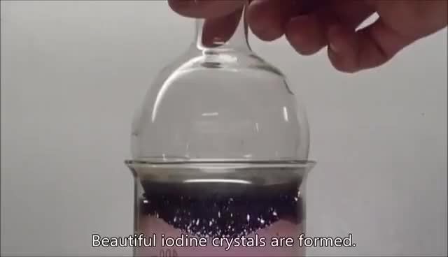 Watch and share Chemistry Experiment 47 - Sublimation Of Iodine GIFs on Gfycat