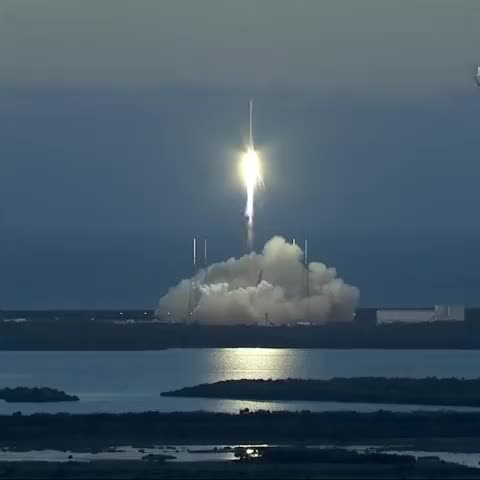 Watch and share SpaceX Falcon 9 Rocket With #DSCOVR Payload Launches From Cape Canaveral In Florida. GIFs by ピー太郎殺す気 on Gfycat