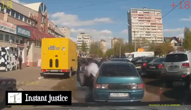 Watch and share INSTANT KARMA, INSTANT JUSTICE DASH CAM 2017 #21 GIFs on Gfycat